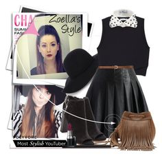 """""""Zoella's Style Inspired!"""" by sg-art ❤ liked on Polyvore featuring Post-It, Warehouse, A.L.C., Chicwish, H&M, OLYA SHIKHOVA, Vince Camuto and MAC Cosmetics"""
