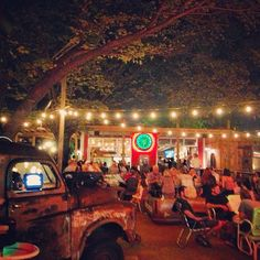 Food trucks, whiskey and beer make us happy at the Truck Yard...by team member Devin