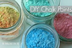 How to make DIY chalk paint for painting inside and outside on the ground.