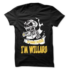 Click here: https://www.sunfrog.com/LifeStyle/Of-Course-I-Am-Right-I-Am-WILLARD--99-Cool-Name-Shirt-.html?s=yue73ss8?7833 Of Course I Am Right I Am WILLARD ... - 99 Cool Name Shirt !