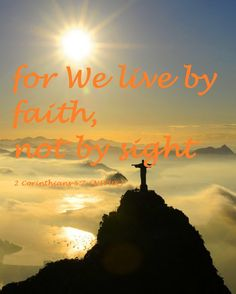 Faith Bible Verse - 2 Corinthians 5:7 (NIVUK)