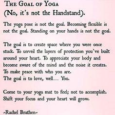 The Goal of Yoga #yogaeverydamnday