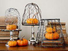 Chicken Wire Pumpkin Decoration