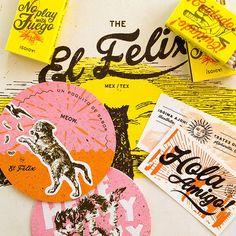 Typography Green Olive Media // The El Felix logo design branding Tag Design, Design Logo, Brand Identity Design, Graphic Design Branding, Graphic Design Illustration, Typography Design, Design Art, Print Design, Identity Branding