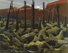 """""""We Are Making a New World"""" was painted by Paul Nash in The setting in this painting is Inverness Copse, which was the scene of German resistance during the British offensive in the summer of Paul Nash was commissioned as an official war artist. Inverness, World War One, First World, Elizabeth Forbes, The Snow, Ww1 Art, John Nash, National Gallery, Google Art Project"""
