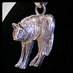 Sterling Silver Heavy wolf necklace- unisex Untamed and wild- this is not for you TIFFANY gals. HEAVY HEAVY, one-of-kind from Jackson Hole,WY. Jewelry Necklaces
