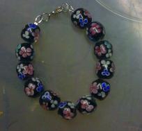 Fabulous! Lampwork beaded bracelet~ I PAY THE SLICE!