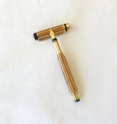 Zebrawood Fountain Pen Handmade by Quiltwear on Etsy, $39.00