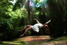 Creative senior photography by posh-penny.com levitation portrait. There are many tutorials on how to do this, for post production use textures and gradients to create a dreamy feeling.