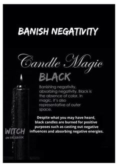 "Black candles are typically used for POSITIVE magick! Red is a more inherently ""evil"" color Magick Spells, Wiccan Witch, Candle Spells, Candle Magic, Jar Spells, Wiccan Altar, Green Witchcraft, Healing Spells, Healing Quotes"