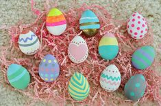 Paint Wooden Easter Eggs for year after year  Easter decor!