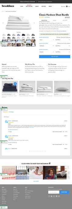 Brooklinen - product page https://www.brooklinen.com/collections/classic-percale-sheets/products/classic-hardcore-sheet-bundle?color1=solid-white&color2=solid-white&color3=solid-white