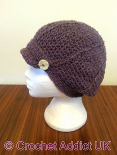 Woman's Newsboy Slouchy ~ Crochet Addict UK ~pattern is linked