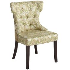 This Green Paisley Dining Chair from Pier1 is absolutely amazing in person. Would make a comfy desk chair or nice accents at the head and foot of a table!