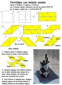 Origami Folhas de Arte