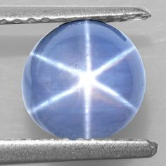 2.72 Cts Natural Sharp 6 Rays Unheated Blue Star Sapphire Round Cabochon 7 mm $