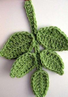 Show Crocheting Ideas Tutorial Pattern Crochet Applique Branch of Leaves, Chunky Crochet Green Leaf Pattern, Unique Crochet Item Lyubava Crochet Pattern number via Etsy. Crochet Diy, Crochet Leaf Free Pattern, Pattern Leaf, Crochet Tutorial, Mode Crochet, Crochet Leaves, Crochet Motifs, Unique Crochet, Crochet Crafts