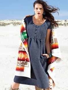 Empire-waist Dress with Pockets (plus-size) 09/2013 #135