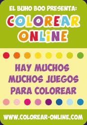 colorear online - muchos juegos para colorear