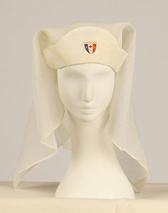 1918 cap and veil from nurse uniform.