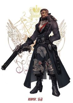 Overwatch Fantasia is a project by some Korean artists to take Blizzard's roster of Heroes Character Creation, Fantasy Character Design, Character Design Inspiration, Character Concept, Character Art, Concept Art, Final Fantasy, Fantasy Heroes, Fantasy Male