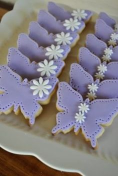 Butterfly cookies..make them look like the magical butterfly in barbie princess power movie