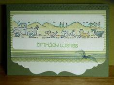 Dog Conga Line birthday Card
