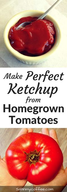"""It's easier than you think, to make perfect ketchup that tastes like the """"REAL DEAL"""" - from your own homegrown tomatoes!"""