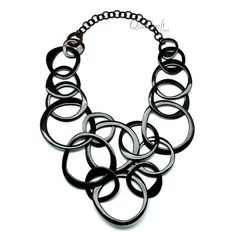 Horn Chain Necklace Q11807 by quecraft on Etsy