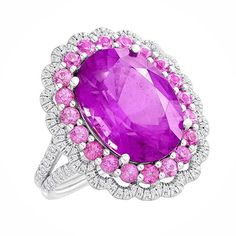 Pink Tourmalines, Pink Spinels and Diamonds, 18 KT Gold.