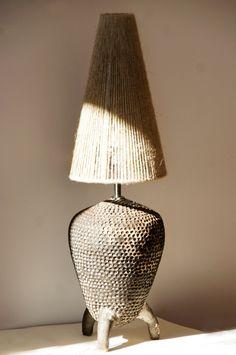 Small Modern style Lamp Table Lamp Handmade Ceramic by BurnToBorn