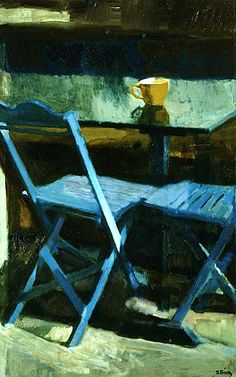 bofransson: The blue chairs II, 1976 Panayiotis Tetsis Painting Still Life, Paintings I Love, Illustrations, Illustration Art, Street Art, Post Impressionism, Inspiration Art, Art Database, Love Art