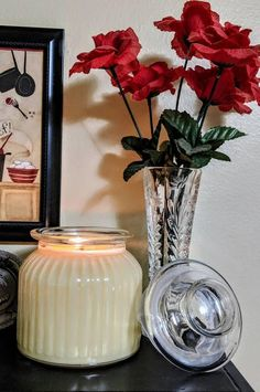 Check out this item in my Etsy shop https://www.etsy.com/listing/168046801/soy-candles-in-20-oz-glass-jar-with-lid