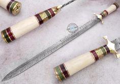 "26"" ONE OF KIND Custom made Beautiful Damascus Steel Sword Knife (958-1) #UltimateWarrior"