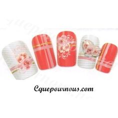 Water decal ongles French