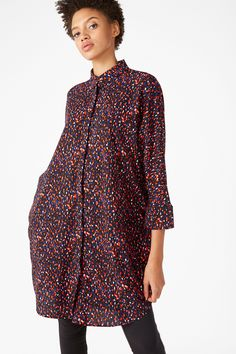 Printed shirt dress - Black magic/Pattern perfection - Dresses - Monki GB