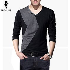 Find More T-Shirts Information about Troilus T Shirt Men Designs Slim Fit O Neck Mens Long Sleeve T Shirt Casual Tshirt Patchwork Hit Homme Tee Tops Shirts Plus Size,High Quality shirt front,China shirt pique Suppliers, Cheap shirt picture from Troilus Flagship Store on Aliexpress.com