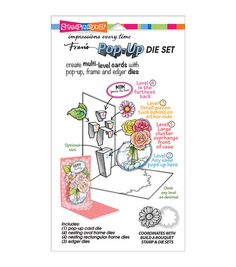 STAMPENDOUS-Dies. These wafer dies work great with your Sizzix Big Shot, Big Kick, Vagabond, Cuttlebug, Lifestyle and Spellbinder machines. This die has a matching stamp set that is made to work with