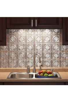 From The Home Depot This Kitchen Backsplash Looks Like Vintage Stamped Tin I Found These Panels Which
