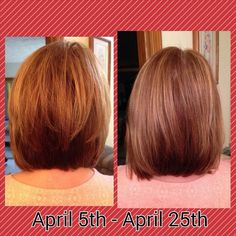 Results from #ItWorks Hair Skin and Nails Supplement. Longer, thicker, healthier hair! Love this product!! Find it at www.kentuckywrapista.com