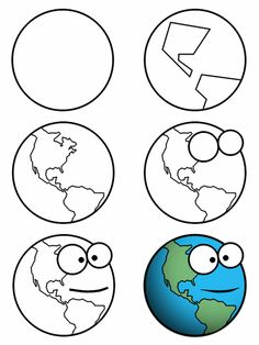 Drawing a cartoon earth can be fun ... but it's even more fun if this one is drawn with a mouth and eyes! :)