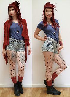 Vagabond Shoes, Black Milk Clothing, Red Cardigan, Winter Looks, Knitting Socks, Skater Dress, Mystery, Punk, Fancy