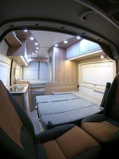 Van Conversion Interior, Van Interior, Camper Interior, Ducato Camper, Fiat Ducato, Diy Caravan, Camper Caravan, Vw California Camper, Transit Camper