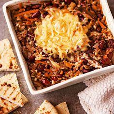 Vegetable Three-Grain Casserole Vegetarian Casserole, Vegetarian Bake, Vegetable Casserole, Vegetable Dishes, Casserole Recipes, Vegetarian Recipes, Healthy Recipes, Weeknight Recipes, Sausage Casserole