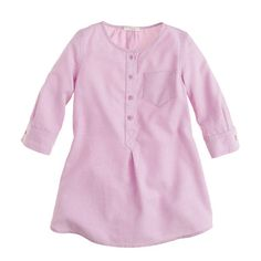 Girls' pocket tunic in tissue oxford: J Crew