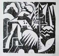 Fermín Revueltas  (1902-1935)  Abstracto  Grabado, madera de hilo Imagen: 14.9x15.3 cm. Papel: 17.5x22.8 cm. Revolver, Nike Logo, Logos, Image, Illustrations, Google, Mexican Art, Printmaking, Abstract