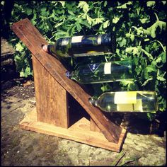 Amazing Pallet Wine Rack  #palletdiyideas #palletwinerack #recyclingwoodpallets Pallet wine racks made from offcuts of pallet wood I had lying around my workshop. Made by Back From The Dead, bringing you unique and unusual items f...