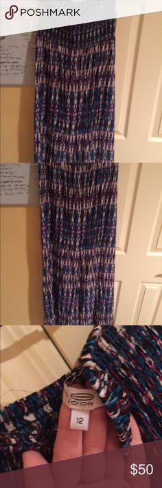 Strapless maxi dress Beautiful colored strapless maxi dress from London Dresses Maxi