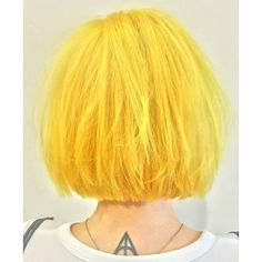 bright yellow bob hair