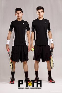 Perkins Twins at the Perkins Twins Tennis Academy on the tennis courts of the Edsa Shangri-la, Manila.  info@philippine.tennis